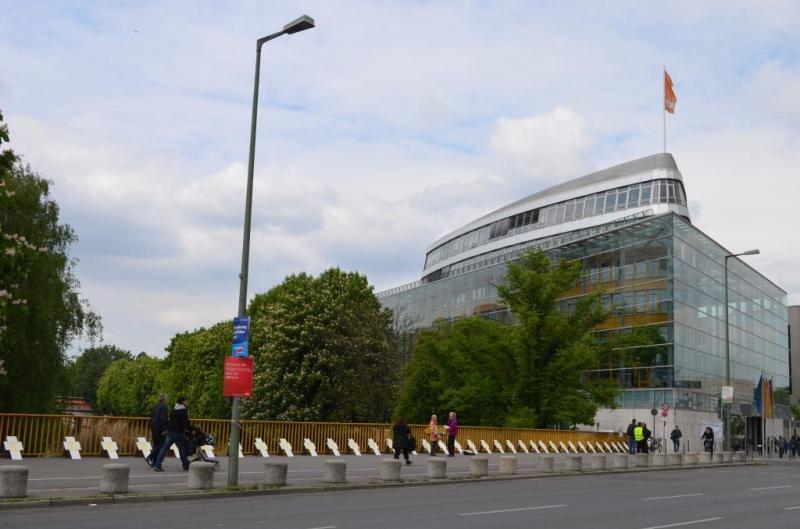 Vor der CDU-Bundesparteizentrale